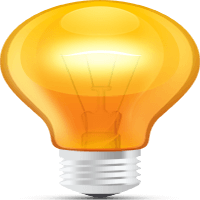 psd-glossy-orange-light-bulb